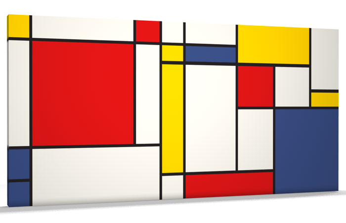 Colorful Abstract Canvas Art Abstract Mondrian Canvas Art