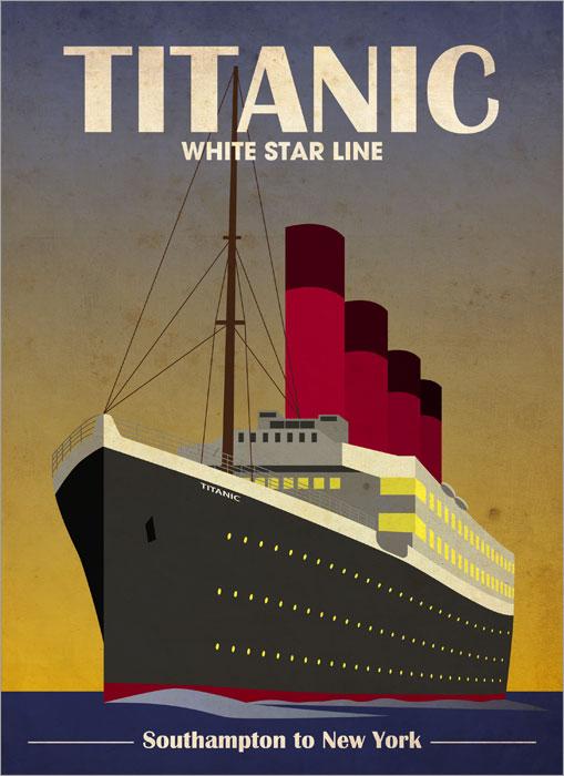 Art Deco Posters - Titanic Poster