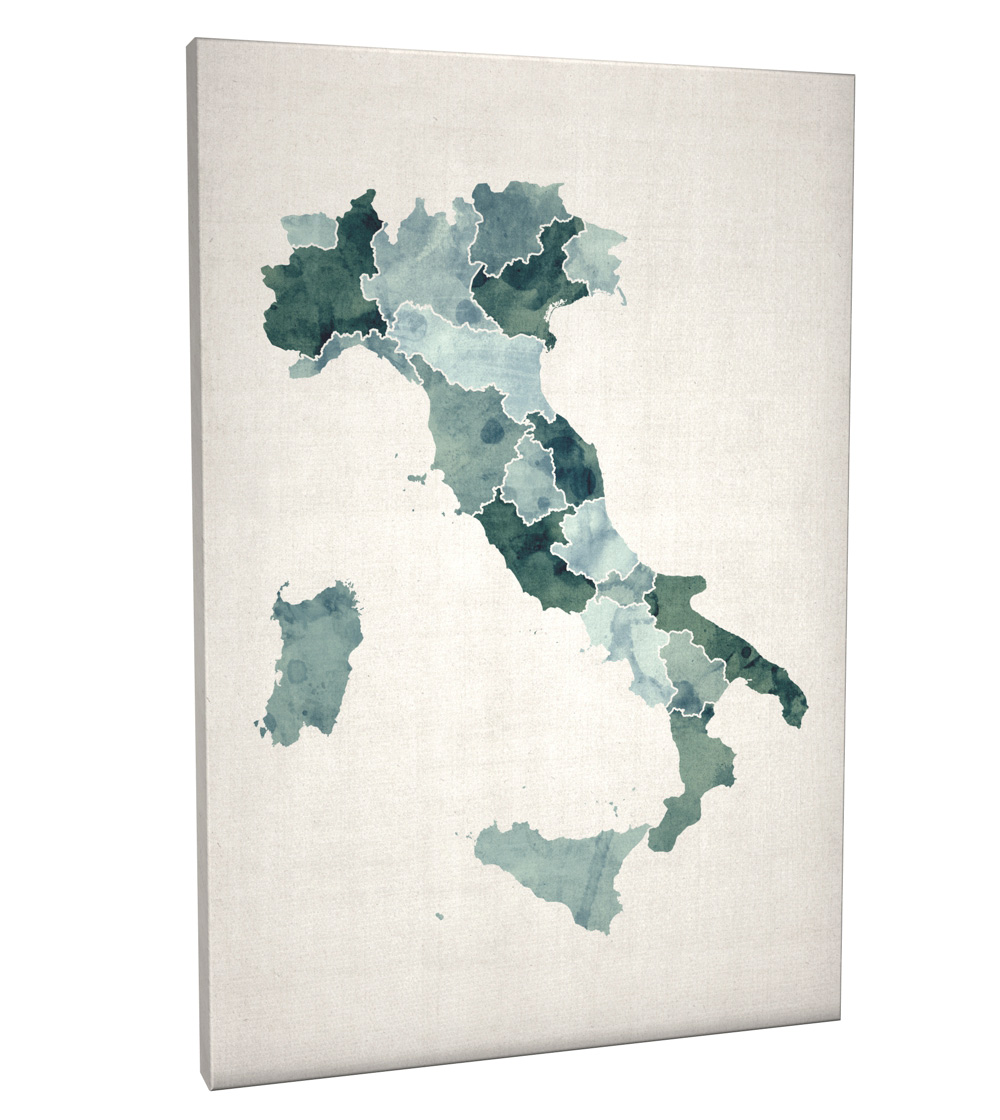 Watercolour map of italy map box canvas and poster print 734 ebay watercolour map of italy map box canvas and poster print 734 gumiabroncs Choice Image