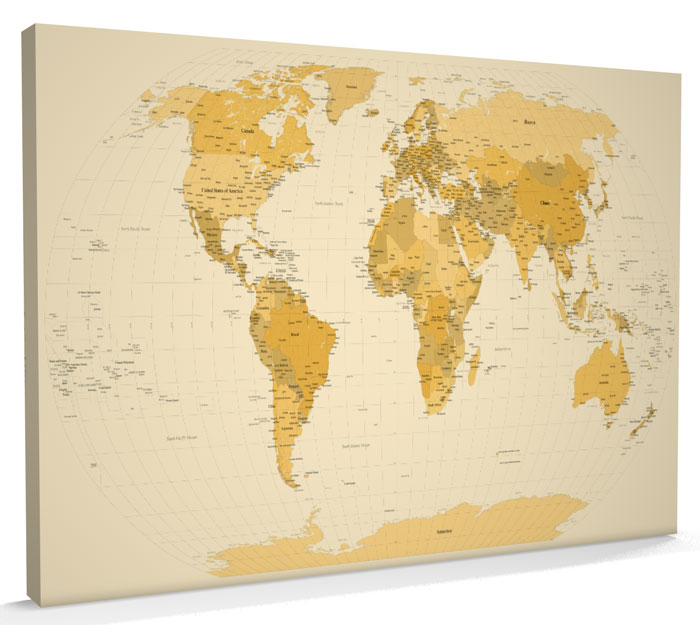Map of the World Map CANVAS art print A1 m788 eBay