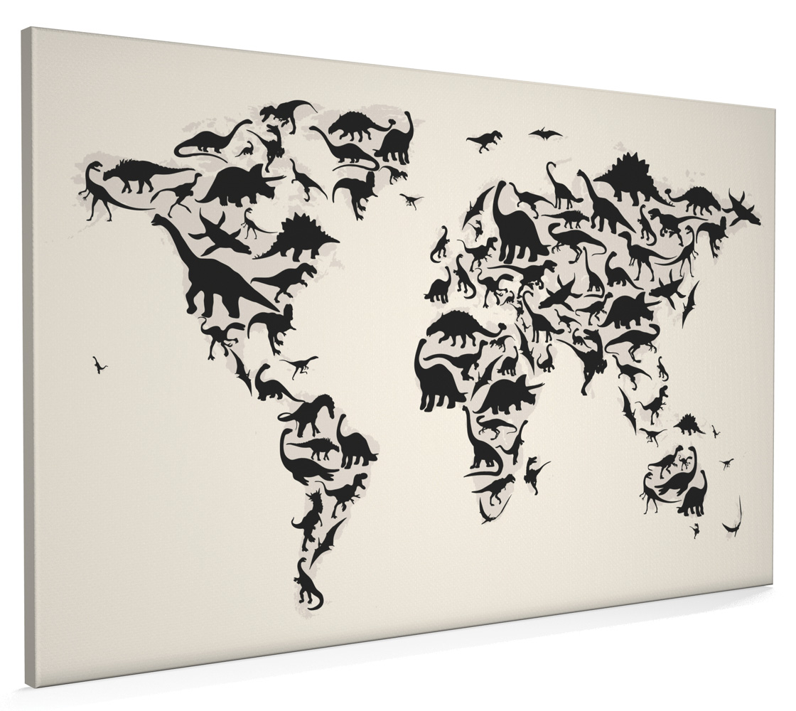 Dinosaur map of the world map box canvas and poster print 79 ebay dinosaur map of the world map box canvas and poster print 79 gumiabroncs Gallery