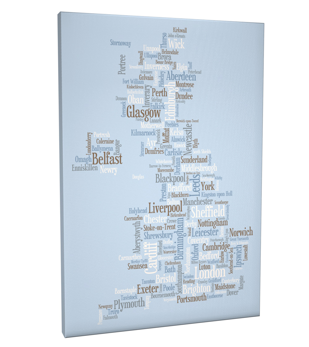 Map Of England Poster.Details About United Kingdom City Text Map Box Canvas And Poster Print 824