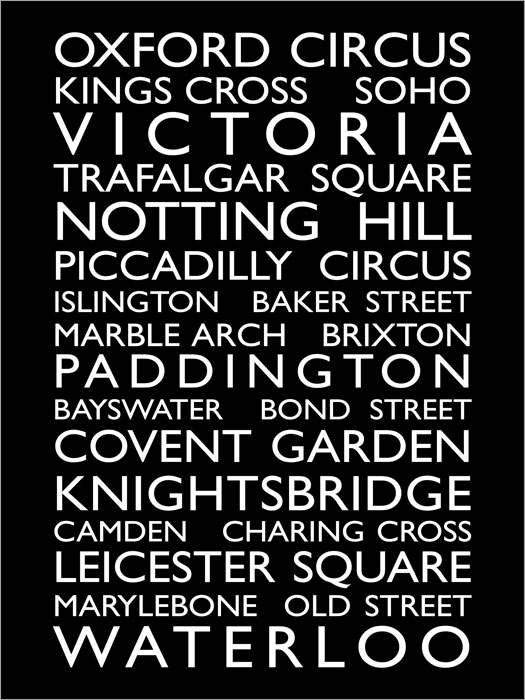 London UK Bus Roll canvas art print poster