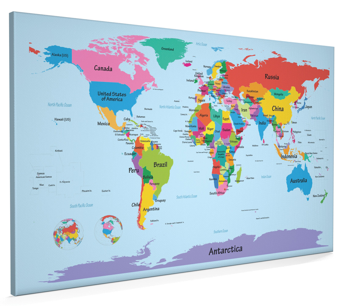 World map with big text for kids box canvas and poster print 901 world map with big text for kids box canvas and poster print 901 gumiabroncs Images