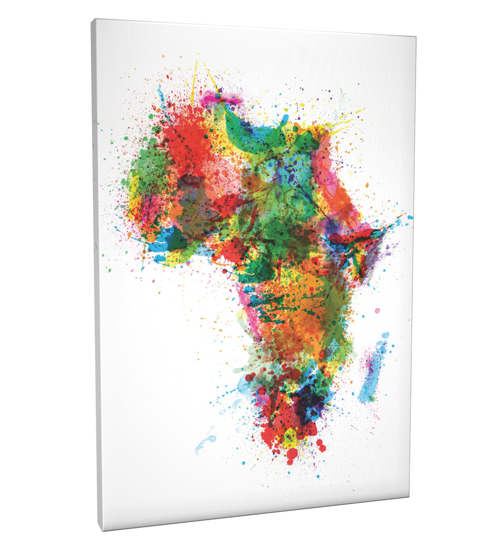 Paint splashes map of africa box canvas and poster print 932 ebay paint splashes map of africa box canvas and poster print 932 gumiabroncs Choice Image