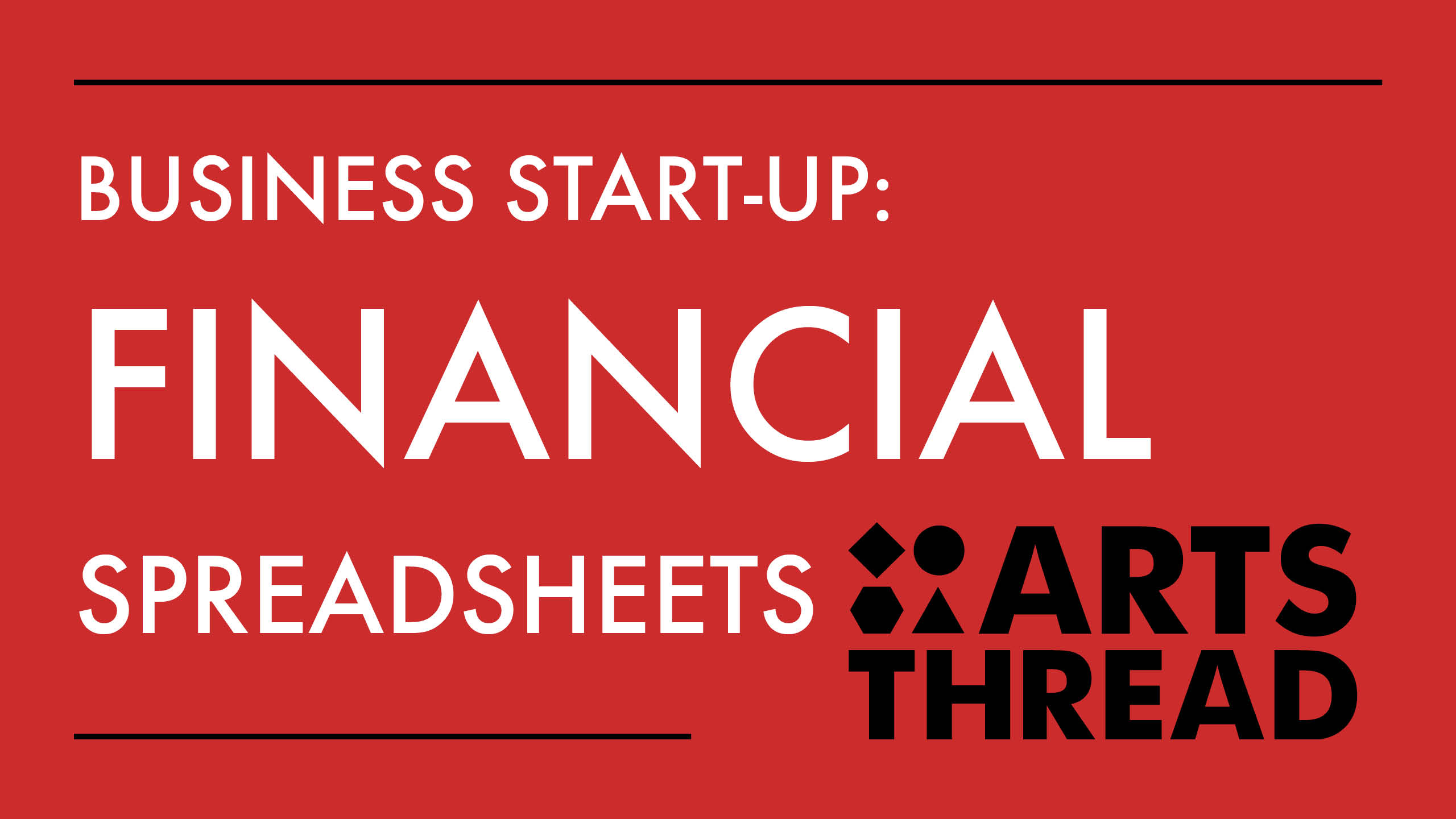 arts thread business start up financial spreadsheets