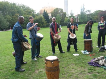 drumming at picnic 2004 in Regents Park