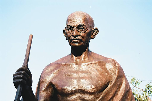 gandhi's statue and message will be with us forever.
