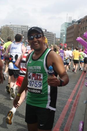 london marathon runner Mehul Bakrania