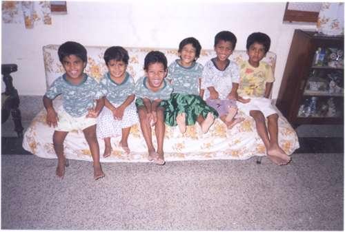 Orphans on Sofa