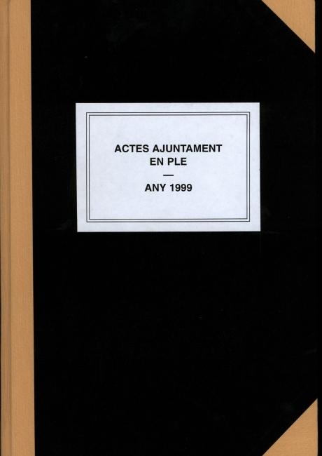 Acta de constitució de l'ajuntament d'Arenys de Mar de 1999