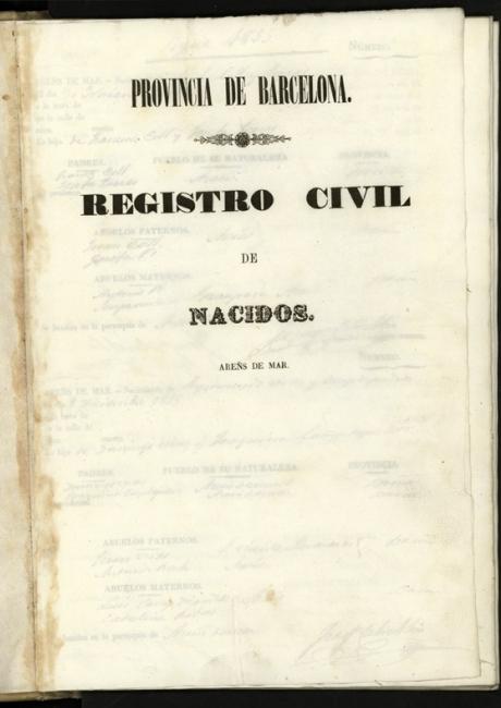 Registre civil de naixements de 1855 a 1856