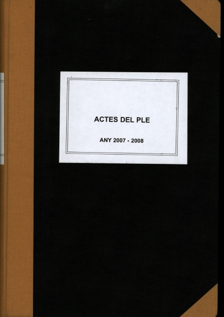 Acta de constitució de l'ajuntament d'Arenys de Mar de 2007