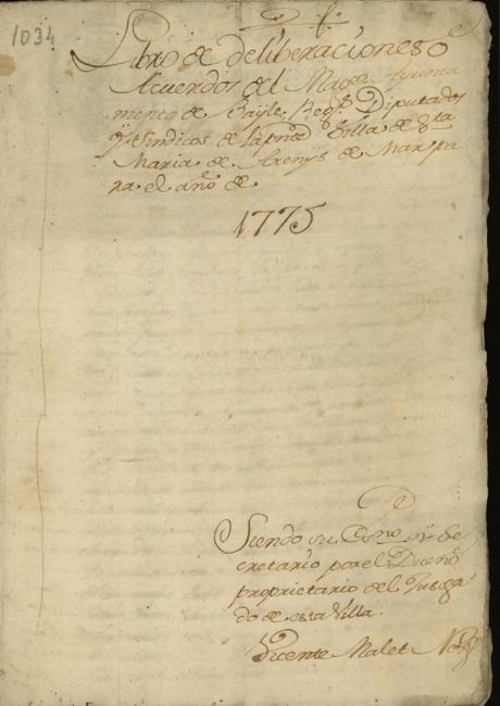 Llibre d'actes de 1775 a 1779