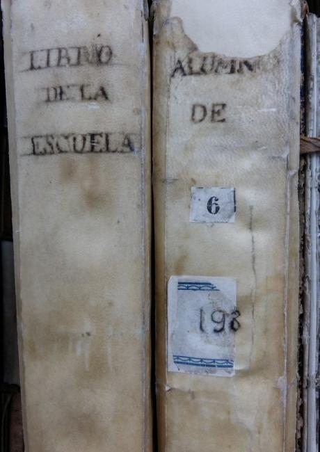 Registre d'alumnes i pràctiques de 1779 a 1813