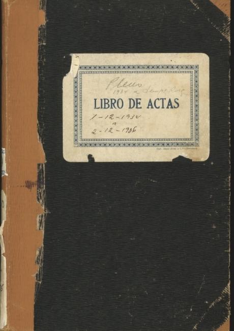 Llibre d'actes de 1934 a 1936