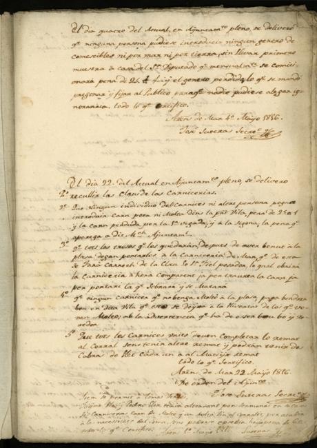 Llibre d'actes de 1816 a 1817