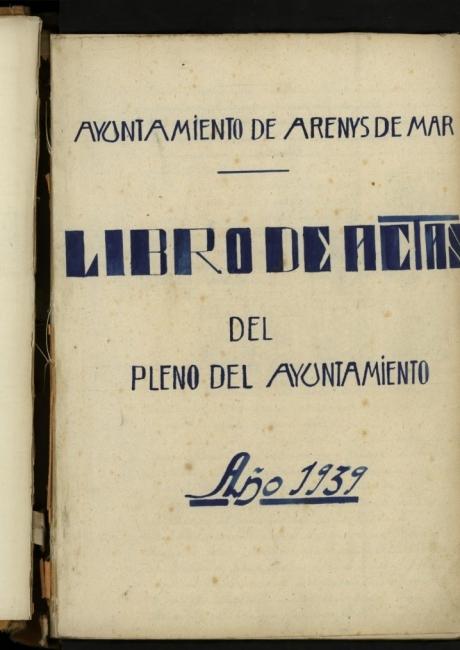 Llibre d'actes de 1939 a 1942