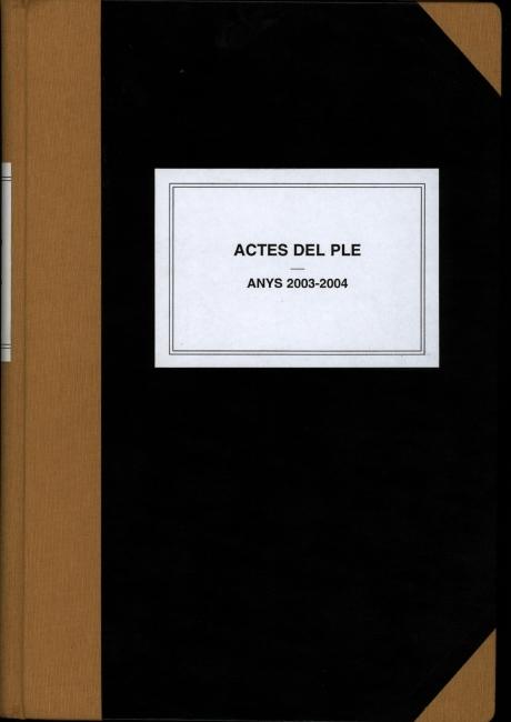 Acta de constitució de l'ajuntament d'Arenys de Mar de 2003