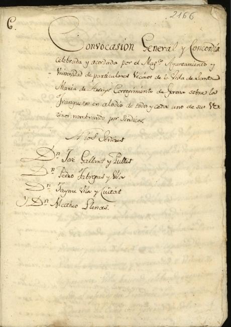 Llibre d'actes de 1815