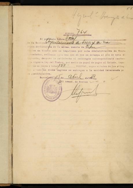 Llibre d'actes de 1933 a 1934