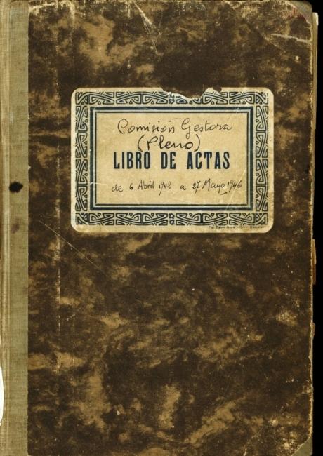Llibre d'actes de 1942 a 1946
