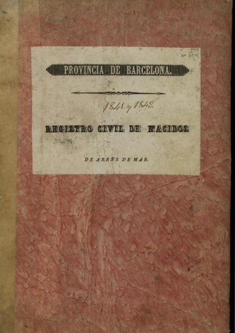 Registre civil de naixements de 1841 a 1842