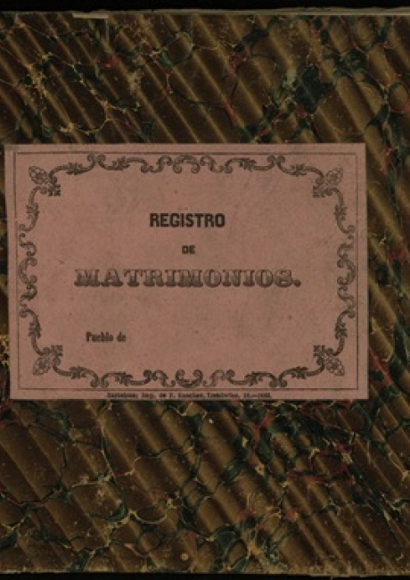 Registre civil de matrimonis de 1863 a 1864
