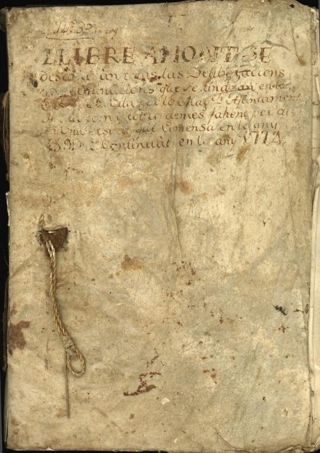 Llibre d'actes de 1599 a 1775