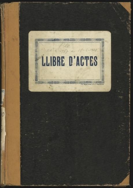 Llibre d'actes de 1937 a 1938