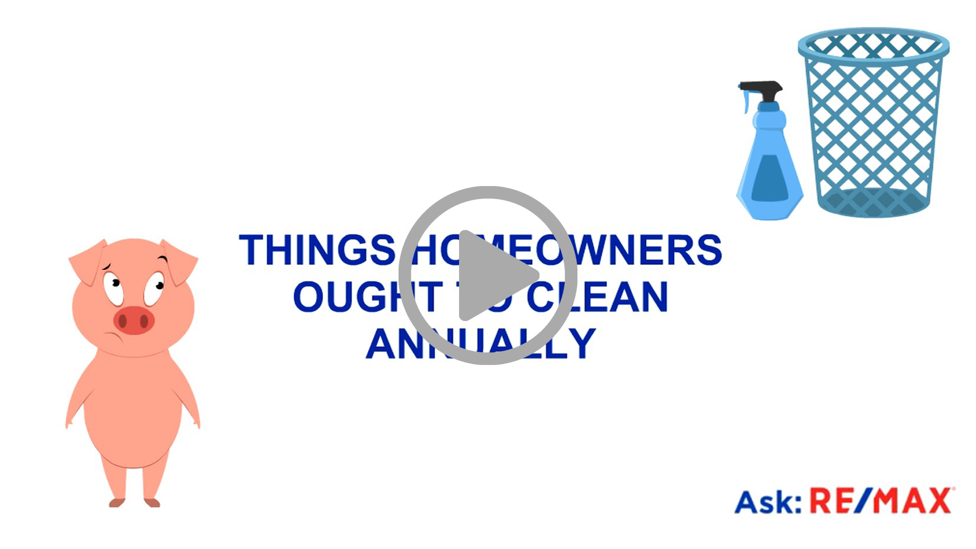 THINGS WE OUGHT TO BE CLEANING ANNUALLY
