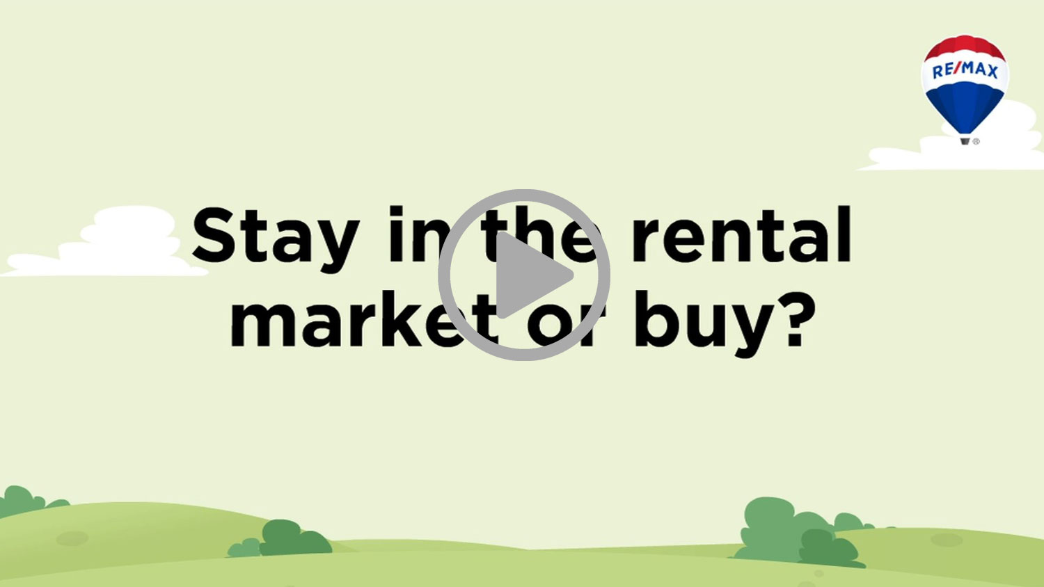 STAY IN THE RENTAL MARKET OR BUY?