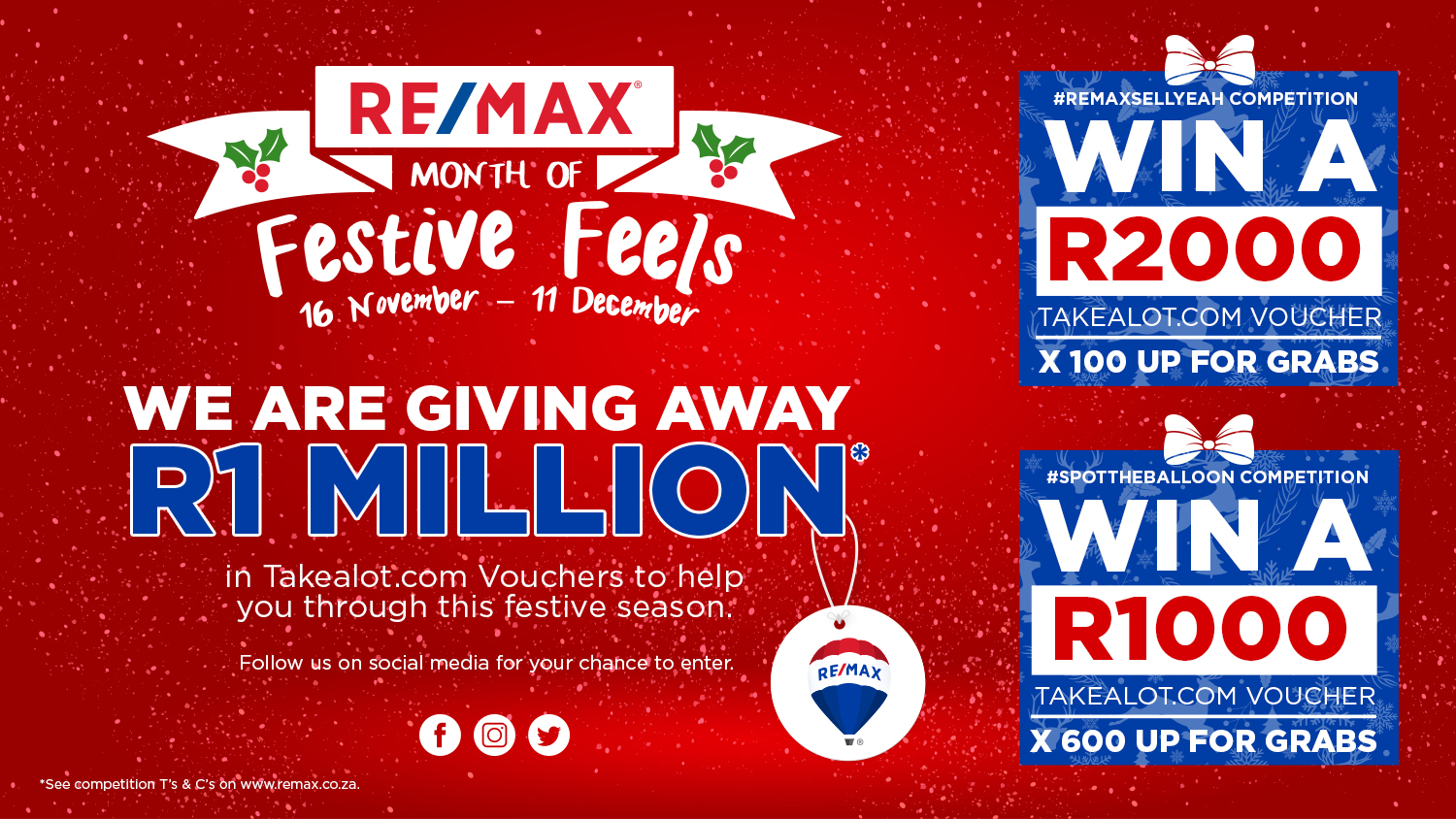 RE/MAX GIVES AWAY R1 MILLION WORTH OF PRIZES