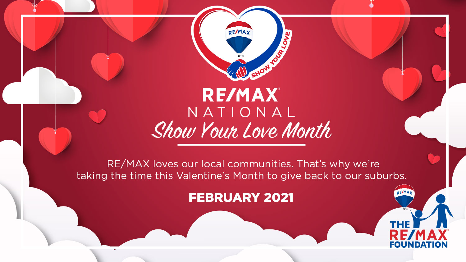 "RE/MAX ""SHOW YOUR LOVE"" MONTH: IDEAS FOR GIVING BACK"