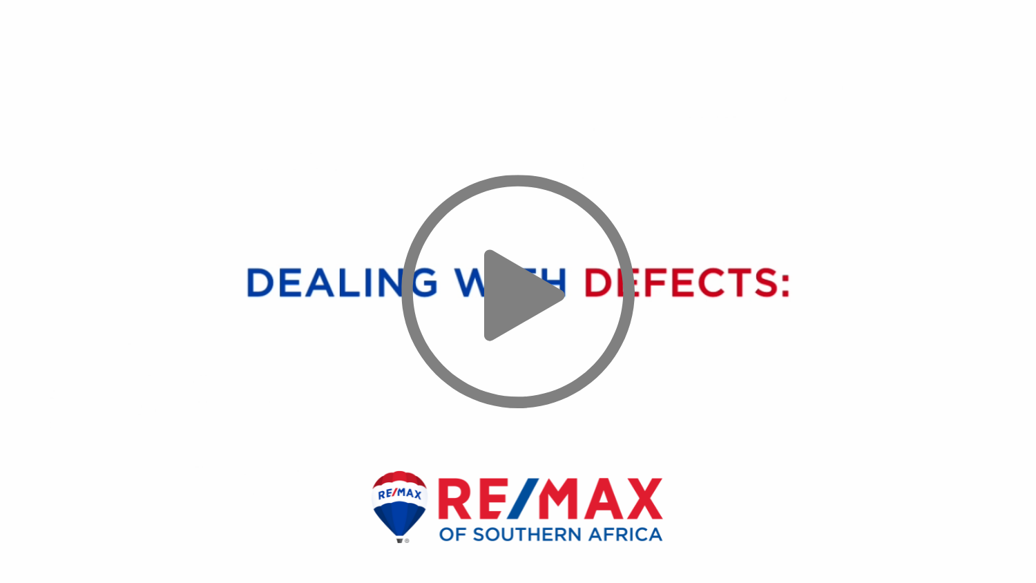 DEALING WITH DEFECTS WHEN BUYING A HOME