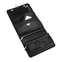 Men's Leather Hanging Wash Bag in Black Jewel. Mens Toiletry & Wash Bags from Aspinal of London