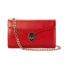 Manhattan Clutch in Berry Lizard. Evening & Clutches from Aspinal of London