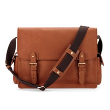 Large Shadow Messenger in Smooth Tan. Mens Messenger Bags from Aspinal of London