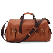 Shadow Holdall in Smooth Tan. Mens Travel Bags from Aspinal of London