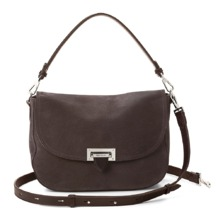 Slouchy Saddle Bag in Smokey Grey Nubuck. Handbags & Clutches from Aspinal of London