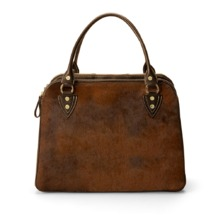 Buffalo Cabin Bag in Brown Calfskin with Brown Haircalf. Ladies Travel Bags from Aspinal of London