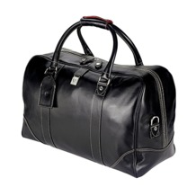 Weekender Travel Bag in Smooth Black. Mens Travel Bags from Aspinal of London