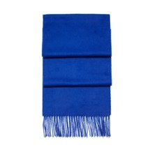 Cashmere Scarf in Cobalt Blue. Mens Cashmere & Wool Scarves from Aspinal of London