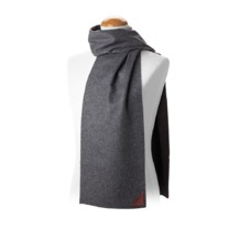 Aspinal Unisex Superior Cashmere Scarf in Grey. Mens Cashmere & Wool Scarves from Aspinal of London