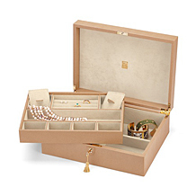 Grand Luxe Jewellery Case. Leather Jewellery Boxes from Aspinal of London
