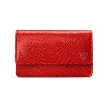 Business & Credit Card Case in Berry Lizard. Business & Credit Card Holders from Aspinal of London
