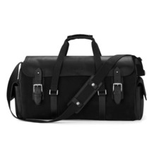 Shadow Holdall in Black Nubuck. Mens Travel Bags from Aspinal of London
