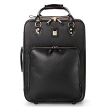 Large Cabin Case in Black Pebble. Ladies Travel Bags from Aspinal of London