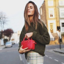 Mini Sofia Bag in Smooth Deer. Handbags & Clutches from Aspinal of London