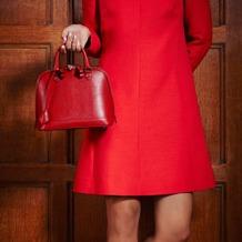 Mini Hepburn Bag in Berry Lizard. Handbags & Clutches from Aspinal of London
